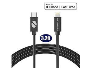 Mfi Certified Lightning to USB C Cable, ZeroLemon SuperFast Charging Cable Support Fast Charge Power Delivery Compatible with iPhone 11/11 Pro/11 Pro Max, New iPad MacBook (3.2Feet)