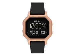 nixon siren ss a1211  rose gold/black  100m water resistant women's digital sport watch 36mm watch face, 18mm16mm stainless steel band