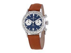hamilton intramatic chronograph automatic blue dial men's watch h38416541