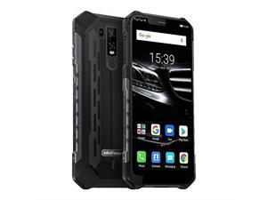 """ulefone armor 6e unlocked cell phones, rugged cell phones dual sim 4g 6.2"""" fhd android 9.0 helio p70,64gb+4gb,nfc+ face id+ uv sensor+gps+sos+wireless charge black"""