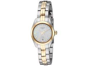 tissot women's pr 100 lady small  t1010102211100 gold/silver one size