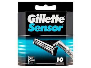 gillette sensor refill razor blade cartridges  10 pack