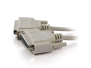 c2g 02661 db25 m/f serial rs232 extension cable, beige 35 feet, 10.66 meters