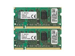 kingston apple 2gb kit 2x1gb modules 667mhz ddr2 200pin sodimm imac and macbook memory ktamb667k2/2g