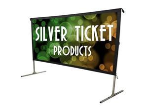 "sto169119 silver ticket indoor/outdoor 119"" diagonal movie projector screen white material sto 16:9, 119"