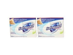 safeguard antibacterial soap, white with aloe, 4 oz bars, 8 ea pack of 2