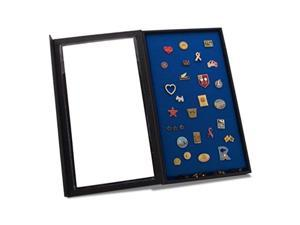 pin collector's display case  for disney, hard rock, olympic, political campaign & other collectible pins and medals  holds up to 100 pins  feltcovered backing, compact, handy magnetic closure