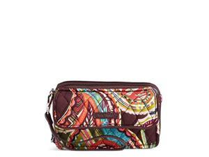 vera bradley rfid all in one crossbody, signature cotton heirloom paisley