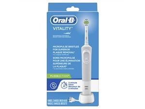 oralb vitality flossaction rechargeable battery electric toothbrush with automatic timer, powered by braun product design & packaging may vary