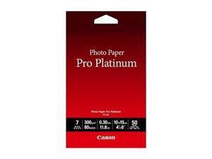 canon photo paper pro platinum, 4 x 6 inches, 50 sheets 2768b014