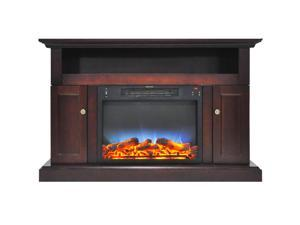 """Cambridge 47"""" Width Fireplace Mantel with LED Electric Insert, Mahogany"""