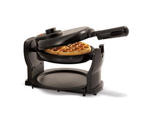 bella 13591 classic rotating nonstick belgian waffle maker with removeable drip tray & folding handle, pro black