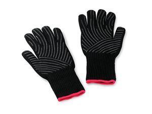 weber 6535 premium black grilling gloves, l/xl