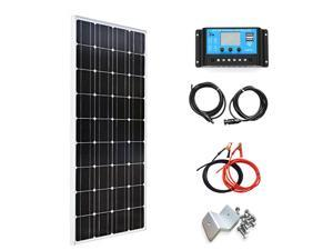 XINPUGUANG 100W Watts 18V Solar Panel Monocrystalline Module Kit with MC4 Connector 10A Regulator for Caravan Home 12v Battery Charging