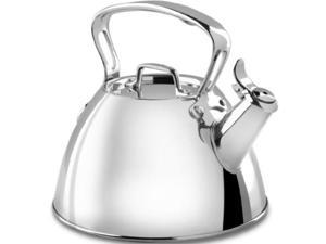 allclad e86199 stainless steel specialty cookware tea kettle, 2quart, silver