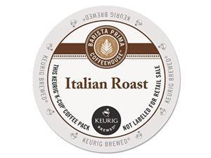 barista prima coffeehouse italian roast coffee kcup for keurig brewers, italian roast coffee count of 96  packaging may vary