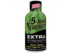 5hour energy shot, extra strength strawberry watermelon, 1.93 ounce, 24 count