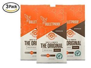 bulletproof the original ground coffee, premium medium roast organic beans, 3pack