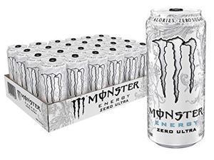 monster energy zero ultra, sugar free energy drink, 16 ounce pack of 24