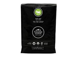 kicking horse coffee, kick ass, dark roast, whole bean, 2.2 lb  certified organic, fairtrade, kosher coffee