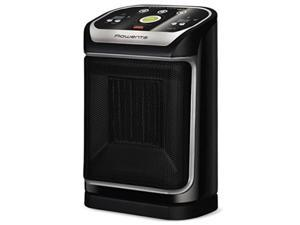rowenta so9276 silent comfort electronic ceramic heater with ecomode, 215square ft, black