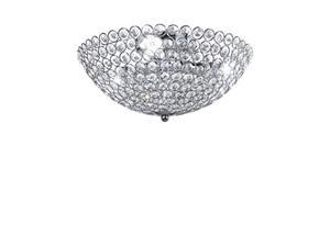 diamond life 3light bowlshaped chrome finish metal and crystal shade crystal chandelier flush mount ceiling light