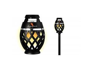 two pack margaritaville sounds of paradise outdoor tiki torch bluetooth lightup speaker no flame led lanterns/lamp. outside patio lights/lantern portable blue tooth tiki torch stereo speakers