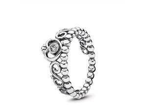 pandora my princess stackable ring, sterling silver, cubic zirconia, size 4.5