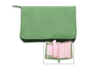 reed & barton naples green grass zippered jewelry case