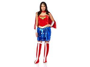 rubie's women's deluxe wonder woman costume, blue/red, large 1014