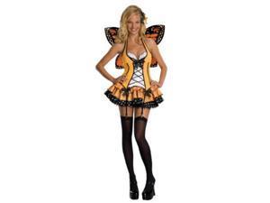 secret wishes fantasy butterfly costume, orange, large