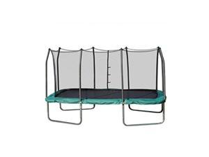 skywalker trampolines 14foot rectangle trampoline with enclosure net  shape provides great bounce  gymnast trampoline  added safety features  meets or exceeds astm  made to last