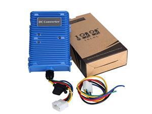 10l0l 30 amp golf cart voltage reducer voltage converter 36v/48v to 12v with dual power source fits on club car ezgo 360 watt!