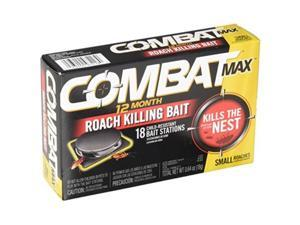 combat max 12 month roach killing bait, small roach bait station, childresistant, 18 count