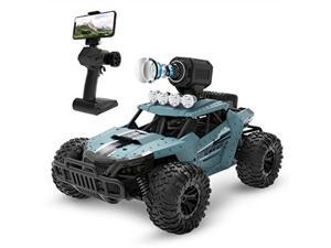 deerc rc cars de36w remote control car with 720p hd fpv camera, 1/16 scale offroad remote control truck, high speed monster trucks for adults kids, all terrain, 30 min play, rc toys gift for boys and