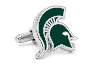 ncaa michigan state spartans cufflinks, officially licensed