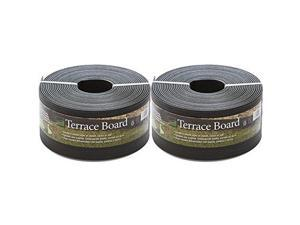 """5"""" black terrace board, 40' with 10 stakes, 2pack"""
