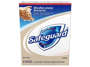 safeguard antibacterial soap, beige 8count: bath size bars 4 oz pack of 3