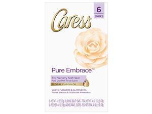 caress beauty bar, pure embrace 4 oz, 6 bar