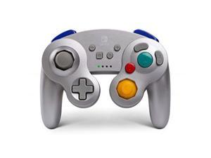 powera wireless controller for nintendo switch  gamecube style: silver  nintendo switch
