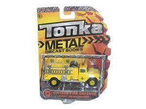 tonka metal diecast bodies first responders  vintage fire defense yellow fire truck