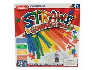 roylco straws and connectors building kit  pack of 230  assorted colors