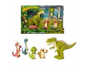 "gigantosaurus figures giganto & friends toy action figures, includes: giganto, mazu, bill, tiny & rocky  articulated characters range from 2.55.5"" tall"
