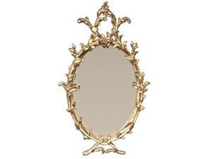 falcon dollhouse miniature oval mirror in gold frame by miniatures