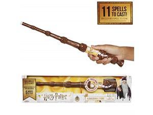 harry potter, albus dumbledore's wizard training wand  11 spells to cast! official toy wand with lights & sounds  wand & lord voldemort wand also available