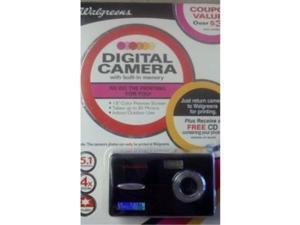 5.1mp digital camera with 1.5inch screen 89480blackwg