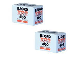 ilford lysb06wvjw47felectrncs xp2 super 400 13536 black & white film 2 pack, black/white