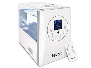 levoit humidifiers for large room bedroom 6l, warm and cool mist ultrasonic air humidifier for home whole house babies room, customized humidity, remote, germ free and whisperquiet