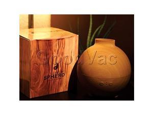 sphero essential oil diffuser, 600ml, wood grain design, whisperquiet, mist mode with timer, waterless auto shut off, for home, office, aromatherapy