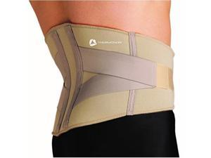 thermoskin lumbar back support, beige, xxlarge